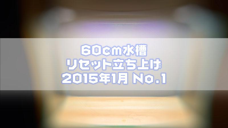 60cm水槽リセット立ち上げ 2015年1月 No.1