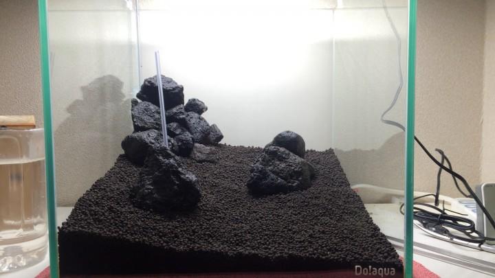 溶岩石を配置する
