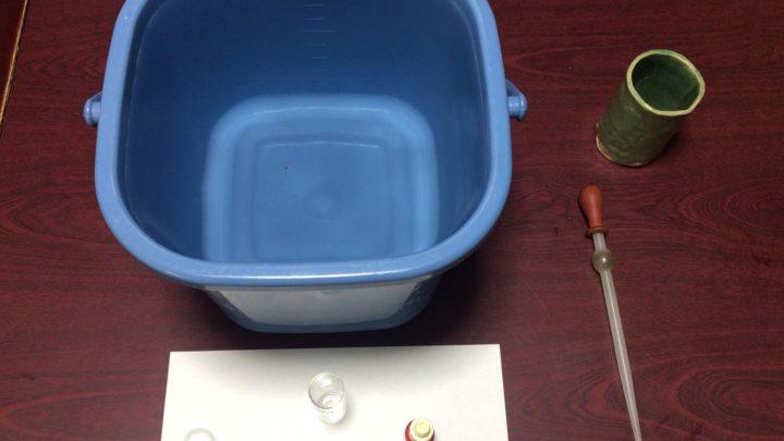 水道水が倍の量に対して中和剤を同量