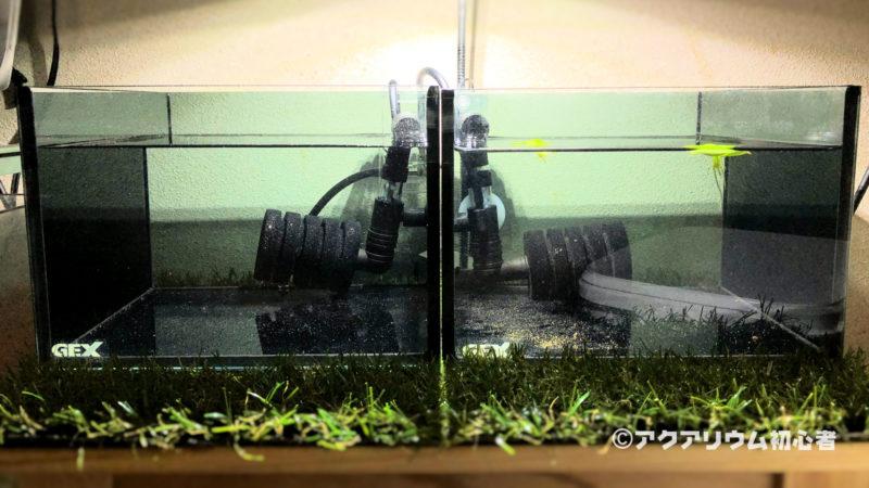 超小型水槽の完成