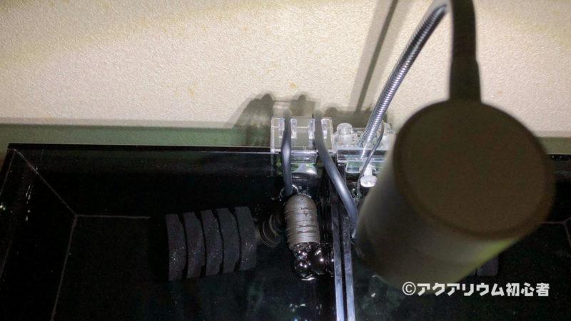 エアーポンプと接続してフィルターを回す