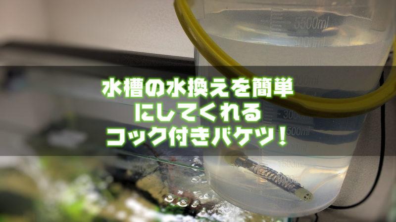 水槽の水換えを簡単にしてくれるコック付きバケツ!