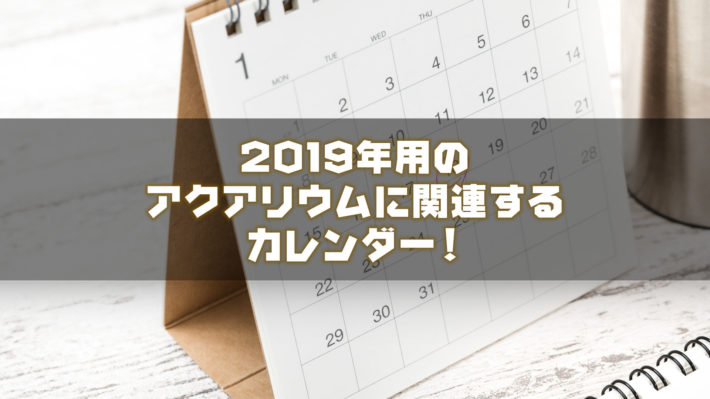 2019年用のアクアリウムに関するカレンダー