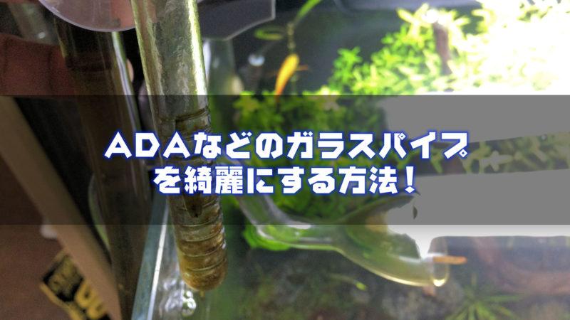 ADAのガラスパイプ(リリィパイプ等)を綺麗にする方法
