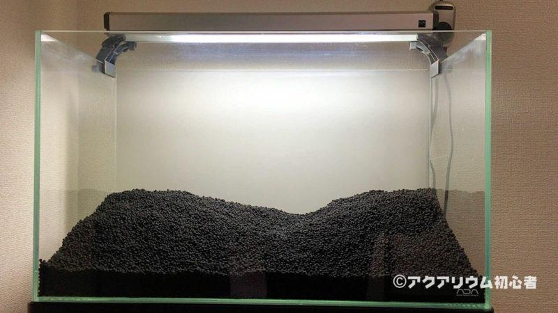 60cm水槽リセット、ソイル底床