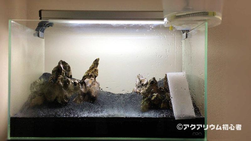 レイアウト水槽に注水開始